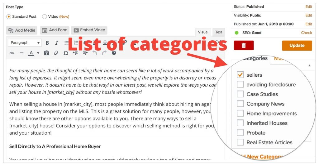 Carrot Categories For SEO