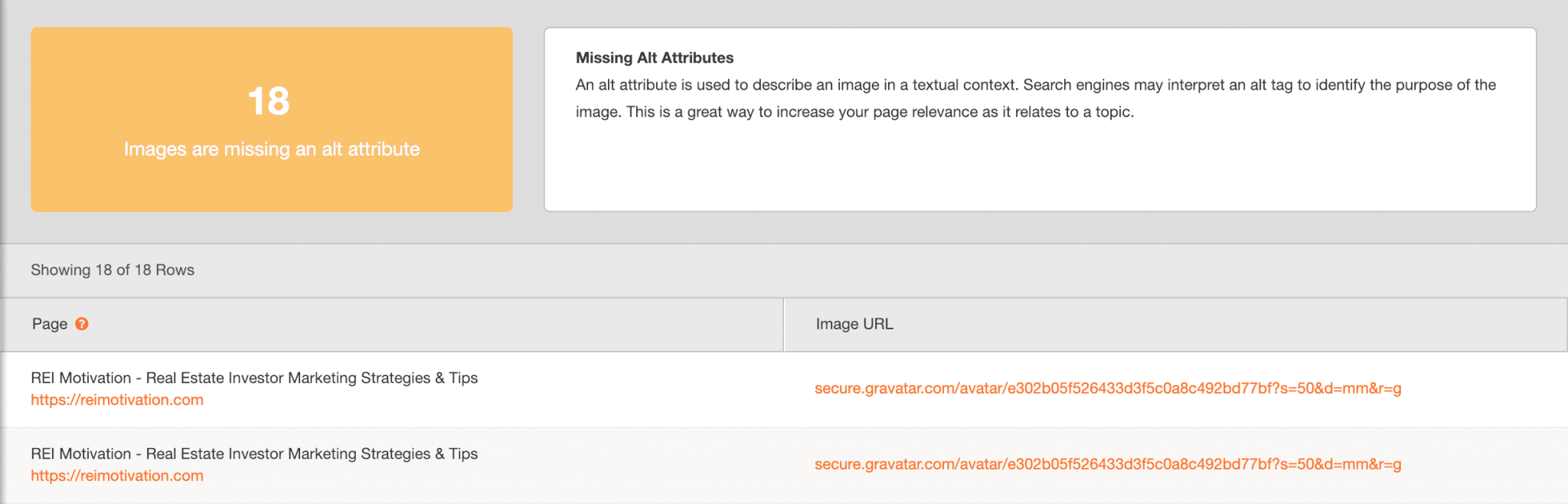 Agency Analytics Issue Report - SEO Audit
